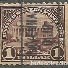 Selos: EEUU 1922 - MEMORIAL DE LINCOLN - 1$ - OHIO. Lote 293692658