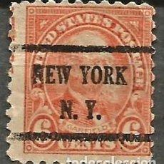 Sellos: EEUU - 1922 - JAMES GARFIELD - 6C - NEW YORK / NEW YORK. Lote 294065363
