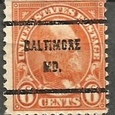 Sellos: EEUU - 1922 - JAMES GARFIELD - 6C - BALTIMORE. Lote 294065643