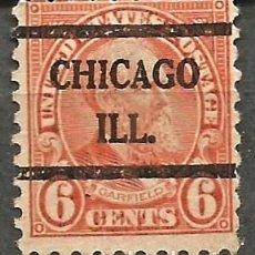 Sellos: EEUU - 1922 - JAMES GARFIELD - 6C - CHICAGO / ILLINOIS. Lote 294065778