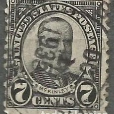Sellos: EEUU - 1922 - MCKINLEY - 7C - USADO. Lote 294066403