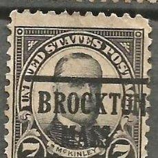 Sellos: EEUU - 1922 - MCKINLEY - 7C - BROCKTON / MASS. Lote 294069913