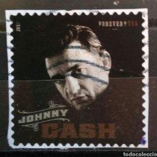 Sellos: USA 2013 JOHNNY CASH SELLO USADO NO LAVABLE. Lote 294115698