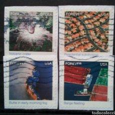 Sellos: USA 2012 PANORÁMICAS AEREA SERIE DE SELLOS USADOS NO LAVABLE. Lote 294981553