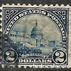 Sellos: EEUU - 1910 - CAPITOLIO - 2 $ - USADO. Lote 295033533
