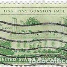 Sellos: SELLO USADO EE.UU. YVERT Nº 644. BICENT. DE GUSTON HALL. 2EEUU-644U. Lote 295346628