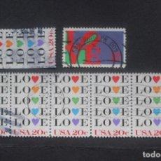 Sellos: 6 SELLOS ESTADOS UNIDOS LOVE. Lote 295513723