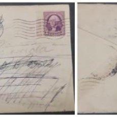 Sellos: O) 1937 ESTADOS UNIDOS USA, FRANQUEO A MÉXICO, TORRE DE LOS REMEDIOS, GEORGE WASHINGTON, CUBIERTA CI. Lote 295525718