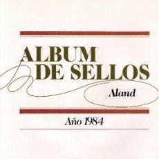 Sellos: HOJAS DE ALAND DE FILABO DE LOS AÑOS 1984 A 1993 MONTADO CON ESTUCHES TRANSPARENTES.. Lote 100325480