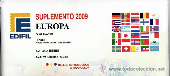 EDIFIL. SUPLEMENTO 2009 EUROPA PAPEL BLANCO (Sellos - Material Filatélico - Estuches)