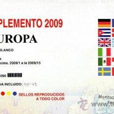 Sellos: EDIFIL. SUPLEMENTO 2009 EUROPA PAPEL BLANCO CON ESTUCHES TRANSPARENTES. Lote 20204989
