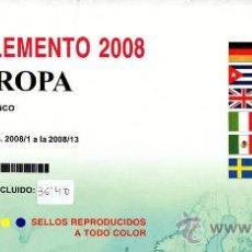 Sellos: EDIFIL. SUPLEMENTO 2008 EUROPA PAPEL BLANCO CON ESTUCHES TRANSPARENTES. Lote 20220759