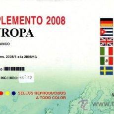 Sellos: EDIFIL. SUPLEMENTO 2008 EUROPA PAPEL BLANCO CON ESTUCHES NEGROS. Lote 20220789