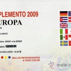 Sellos: EDIFIL.SUPLEMENTO 2009 EUROPA CARNÉS PAPEL BLANCO. Lote 20237633