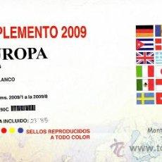 Sellos: EDIFIL. SUPLEMENTO 2009 EUROPA CARNÉS PAPEL BLANCO CON ESTUCHES TRANSPARENTES. Lote 20237659