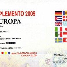 Sellos: EDIFIL. SUPLEMENTO 2009 EUROPA CARNÉS PAPEL BLANCO CON ESTUCHES NEGROS. Lote 20237673