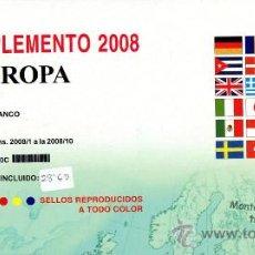 Sellos: EDIFIL. SUPLEMENTO 2008 EUROPA CARNÉS PAPEL BLANCO CON ESTUCHES TRANSPARENTES. Lote 20252038