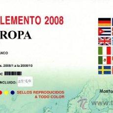 Sellos: EDIFIL. SUPLEMENTO 2008 EUROPA CARNÉS PAPEL BLANCO CON ESTUCHES NEGROS. Lote 20252076