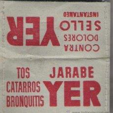 Sellos: JARABE YER -SOBRE PARA GUARDAR SELLOS COSIDO A MANO. Lote 22680699