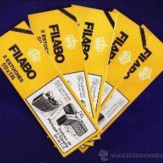 Sellos: FILOESTUCHE / PROTECTOR - 59X174 - FONDO NEGRO - LOTE 5 PAQ. DE 2 UNID. C/U - FILABO - ¡¡OFERTA!!. Lote 131612369