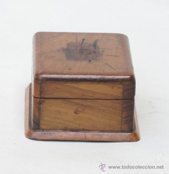 Sellos: Caja de madera en miniatura para sellos. Biedermeier. Alemania 1820-50 - Foto 3 - 32803109