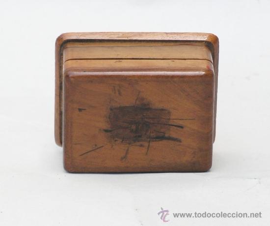 Sellos: Caja de madera en miniatura para sellos. Biedermeier. Alemania 1820-50 - Foto 4 - 32803109