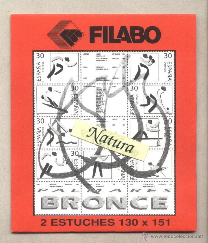 ESTUCHE PROTECTOR 130 X 151 (2 UNIDADES) MEDALLAS DE BRONCE FILABO (Sellos - Material Filatélico - Estuches)