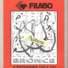 Sellos: ESTUCHE PROTECTOR 130 X 151 (2 UNIDADES) MEDALLAS DE BRONCE FILABO. Lote 41038221