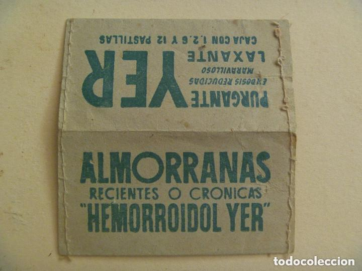 PEQUEÑO ESTUCHE PARA SELLOS PUBLICIDAD LAXANTE Y ANTI ALMORRANAS. AÑOS 40 (Sellos - Material Filatélico - Estuches)