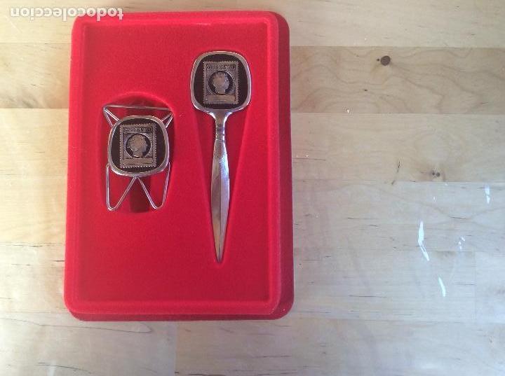 Sellos: Abrecartas y pinza sello de correos 1853 - Foto 2 - 113412983