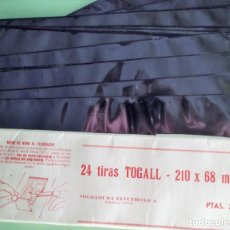 Sellos: 24 TIRAS 210X68 MM. DE FILOESTUCHES TOGALL NEGRO. P-59. Lote 130196411