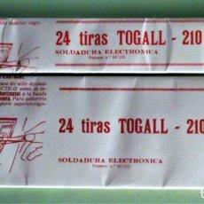 Sellos: 24 TIRAS DE 210X28 Y 210X62 MM. DE FILOESTUCHES TOGALL NEGRO. P-60. Lote 130196499