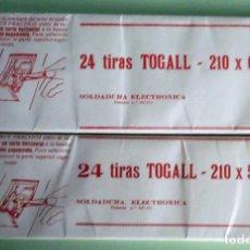 Sellos: 24 TIRAS DE 210X56 Y 210X62 DE FILOESTUCHES TOGALL NEGRO. P-63. Lote 130196603