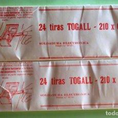 Sellos: 24 TIRAS DE 210X58 Y 210X62 DE FILOESTUCHES TOGALL NEGRO. P-64. Lote 130196655