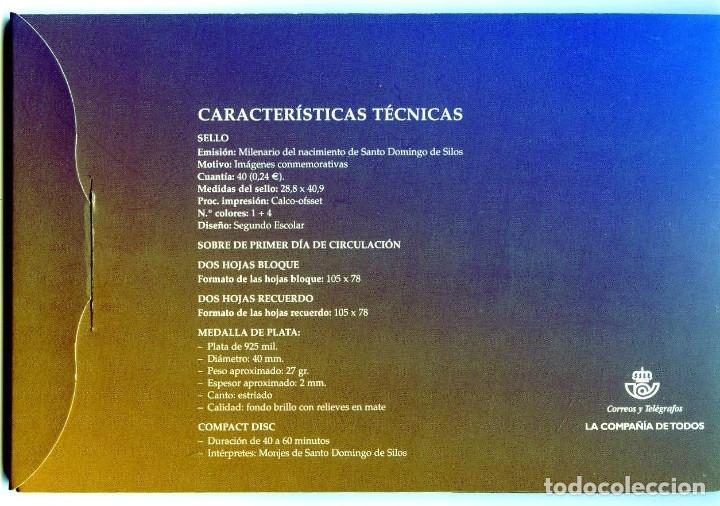 Sellos: CARPETA-ESTUCHE MILENARIO DEL NACIMIENTO DE SANTO DOMINGO DE SILOS-VER FOTOS ADICIONALES . - Foto 2 - 155824338
