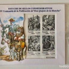 Sellos: ESTUCHE DE SELLOS CONMEMORATIVOS IV CENTENARIO PUBLICACIÓN DE EL QUIJOTE. Lote 165442592