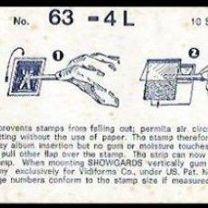 Sellos: FILOESTUCHES SHOWGARD 240 X 63 . Lote 175964854