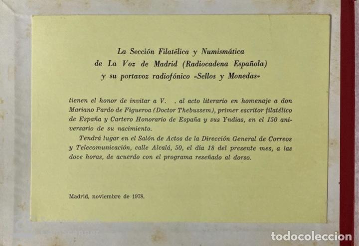 Sellos: BARCELONA. CIRCULO FILATELICO. DOCTOR THEBUSSEM. ESTUCHE. LEER. - Foto 6 - 181468680