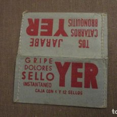 Sellos: ANTIGUA PORTA SELLOS SELLOS CORREO TIMBRES MOVILES JARABE YER.. Lote 191440987