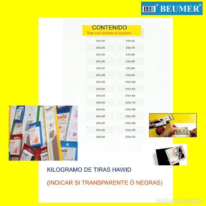 1 KILOGRAMO DE TIRAS PROTECTORAS, SURTIDO SEGÚN RELACIÓN. HÁGALO UD.,MISMO Y ABARATE Y DISFRUTE ! (Sellos - Material Filatélico - Estuches)