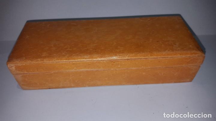 Sellos: Antigua Caja para Guardar Sellos - Madera - Foto 2 - 202638142