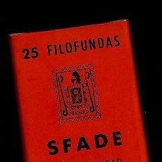Sellos: 25 FILOFUNDAS O FILOESTUCHES - SFADE - 25 X 29 - FONDO NEGRO. Lote 205550725