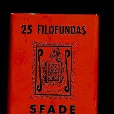 Sellos: 25 FILOFUNDAS O FILOESTUCHES - SFADE - 41 X 30 - FONDO NEGRO. Lote 205550970