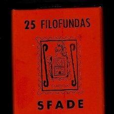 Sellos: 25 FILOFUNDAS O FILOESTUCHES - SFADE - 30 X 41 - FONDO NEGRO. Lote 205551023