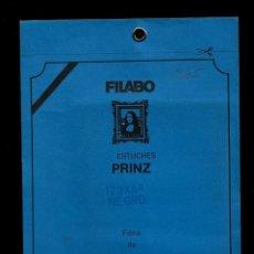 Sellos: 10 FILOESTUCHES - 123 X 88 - FONDO NEGRO - PRINZ * FILABO. Lote 205556002