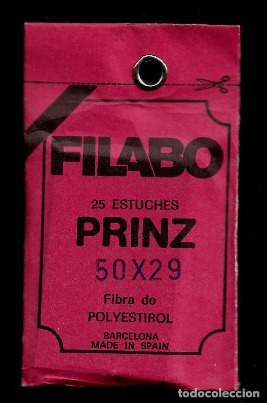 25 FILOESTUCHES - FILABO - 50 X 29 - FONDO NEGRO - PRINZ (Sellos - Material Filatélico - Estuches)
