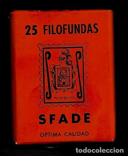 25 FILOFUNDAS O FILOESTUCHES - SFADE - 51 X 35 - FONDO NEGRO (Sellos - Material Filatélico - Estuches)