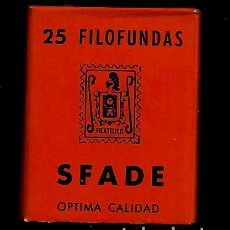 Sellos: 25 FILOFUNDAS O FILOESTUCHES - SFADE - 29X 34 - FONDO NEGRO. Lote 211486672