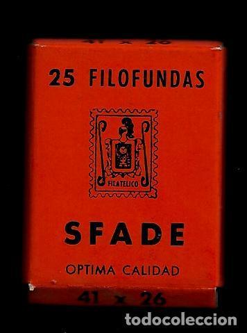 25 FILOFUNDAS O FILOESTUCHES - SFADE - 41 X 26 - FONDO NEGRO (Sellos - Material Filatélico - Estuches)
