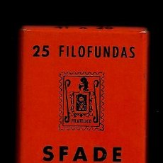 Sellos: 25 FILOFUNDAS O FILOESTUCHES - SFADE - 41 X 26 - FONDO NEGRO. Lote 211486751